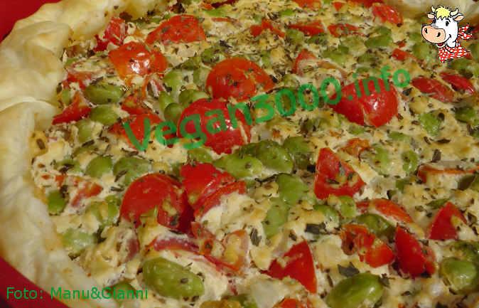 Foto numero 1 della ricetta Torta salata con soia edamame e pomodorini