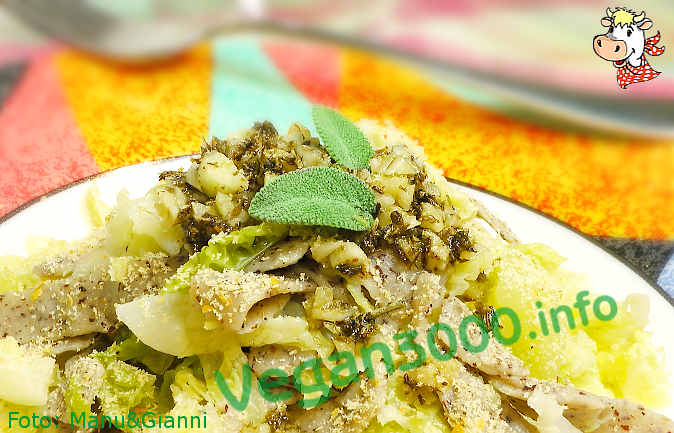 Foto numero 1 della ricetta Pizzoccheri with cabbage and potatoes