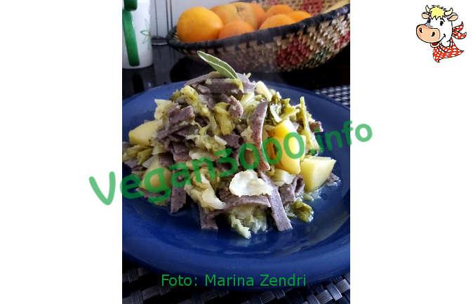 Foto numero 2 della ricetta Pizzoccheri with cabbage and potatoes