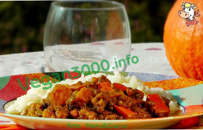 Foto numero 1 della ricetta Curry di zucca e lenticchie con riso Basmati