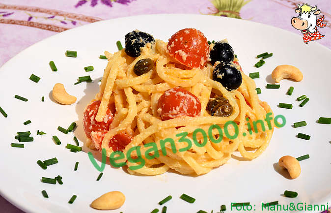 Foto numero 1 della ricetta Mediterranean pasta in cashew creamy cheese