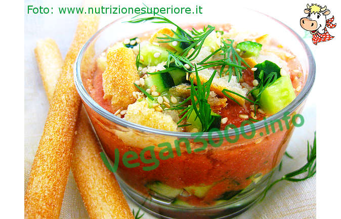 Foto numero 1 della ricetta Gazpacho vegan coi pomodori secchi
