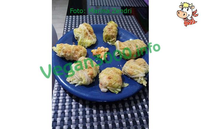 Foto numero 1 della ricetta Involtini di verza e ceci