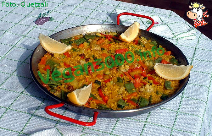 Foto numero 1 della ricetta Paella valenciana... vegetale